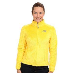 🆕 North Face Yellow Furry Jacket w/ Hood Sz XXL